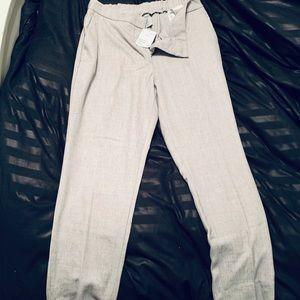 Cropped grey slacks
